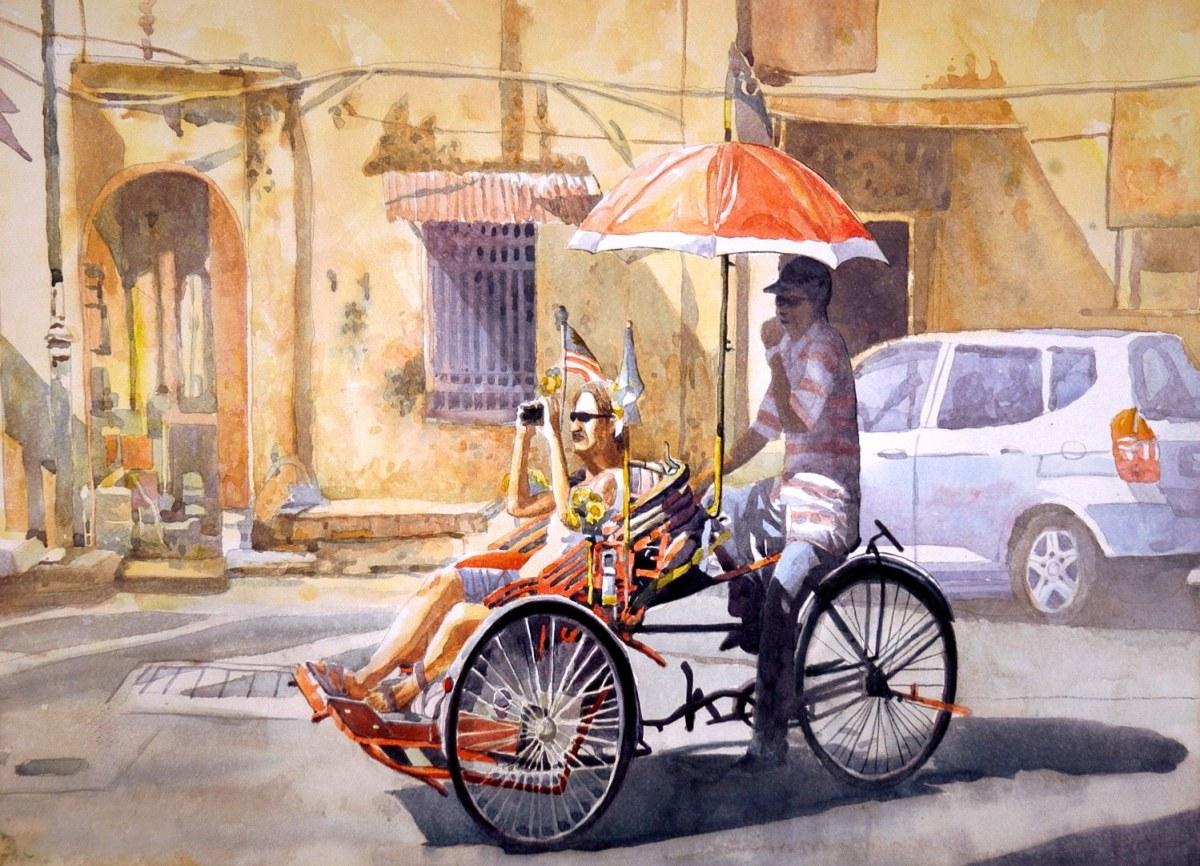 #WorldWatercolorGroup - Watercolor painting by Nik Rafin - #doodlewash