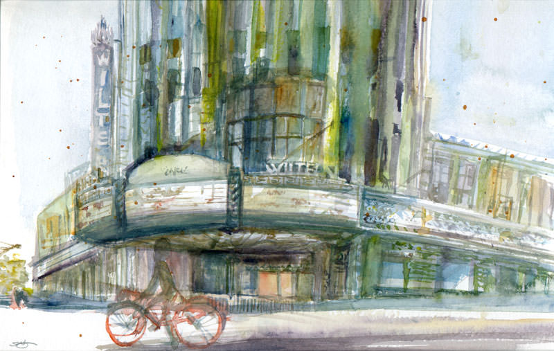 #WorldWatercolorGroup - Watercolor by Shiho Nakaza The Wiltern Los Angeles - #doodlewash