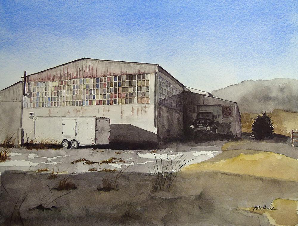 #WorldWatercolorGroup - Watercolor painting of building by Ellie Moniz - #doodlewash
