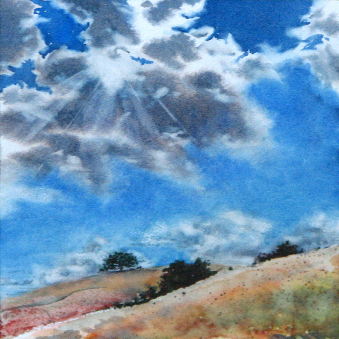 #WorldWatercolorGroup - Watercolor clouds by Leslie Rich - #doodlewash