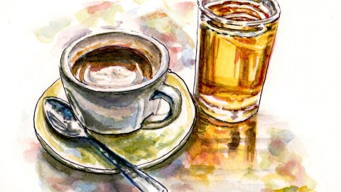 Day 2 - #WorldWatercolorGroup Writing A Mystery - Coffee Tea or Murder - #doodlewash