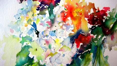 #WorldWatercolorGroup - Watercolor Painting by Lisa Argentieri - Flowers - #doodlewash
