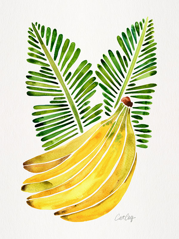 #WorldWatercolorGroup - Watercolor Art by Cat Coquillette - Bananas - #doodlewash