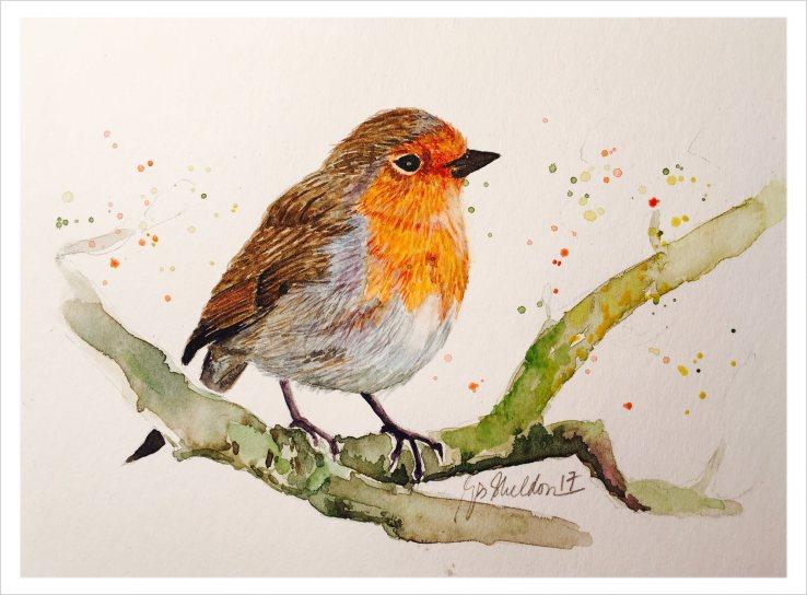 #WorldWatercolorGroup - Watercolor painting of bird by Rocelee F. Benedicto-Sheldon - #doodlewash