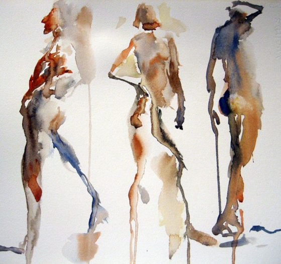 #WorldWatercolorGroup - Watercolor Painting by Lisa Argentieri - Nudes - #doodlewash