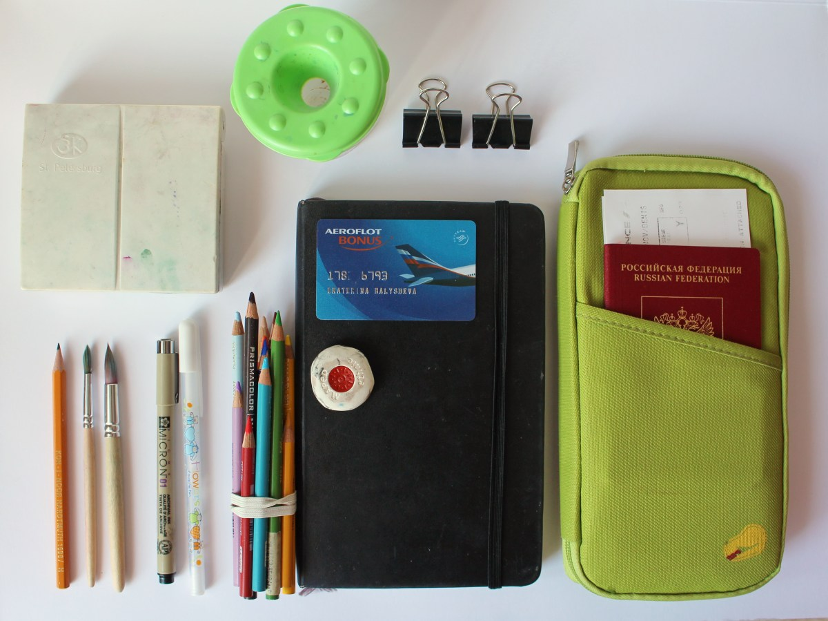 #WorldWatercolorGroup - Watercolor by Katiya Che of supplies - #doodlewash
