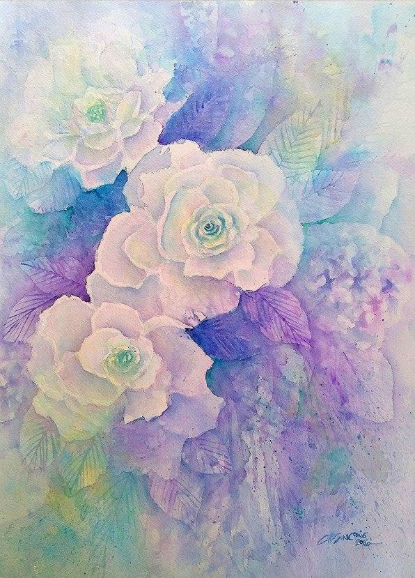 #WorldWatercolorGroup - watercolor flowers by Cheryl Sun-Ong - #doodlewash