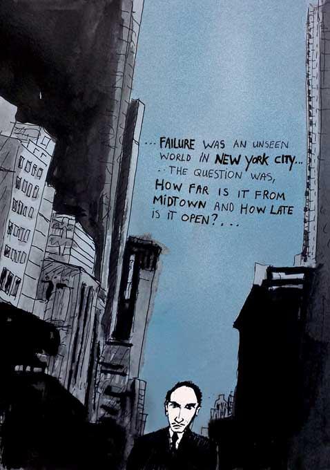 #WorldWatercolorGroup - Sketch by Tim Soekkha of New York City Noir - #doodlewash