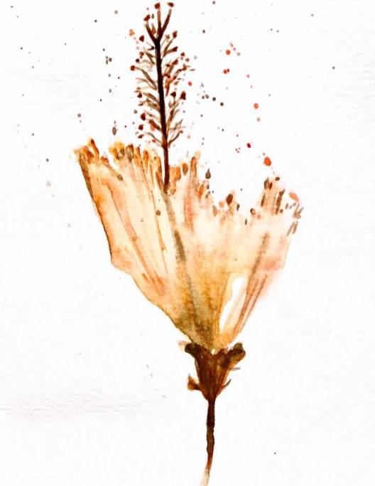 #WorldWatercolorGroup - Watercolor by Elisa Choi Ang - flower - #doodlewash