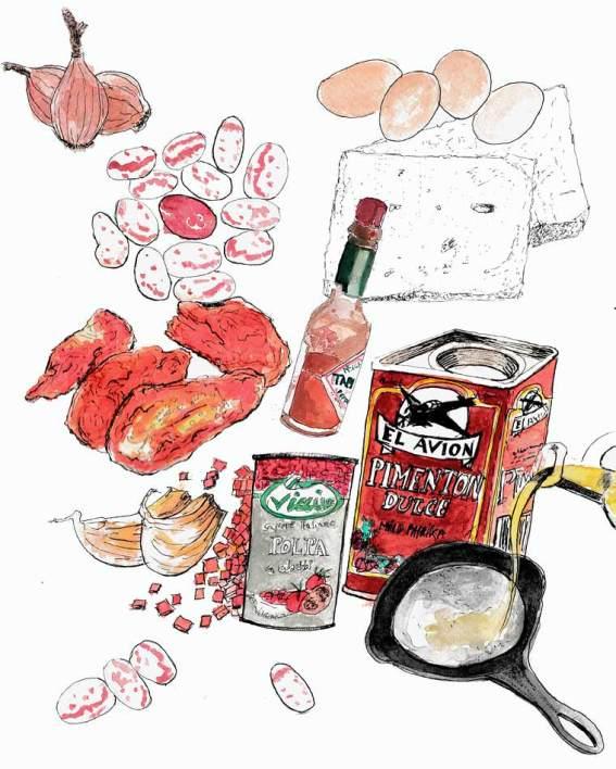 #WorldWatercolorGroup - Watercolor by Tim Soekkha of Shakshuka Recipe - #doodlewash
