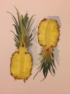 #WorldWatercolorGroup - Watercolour by Ian Probert - pineapples - #doodlewash