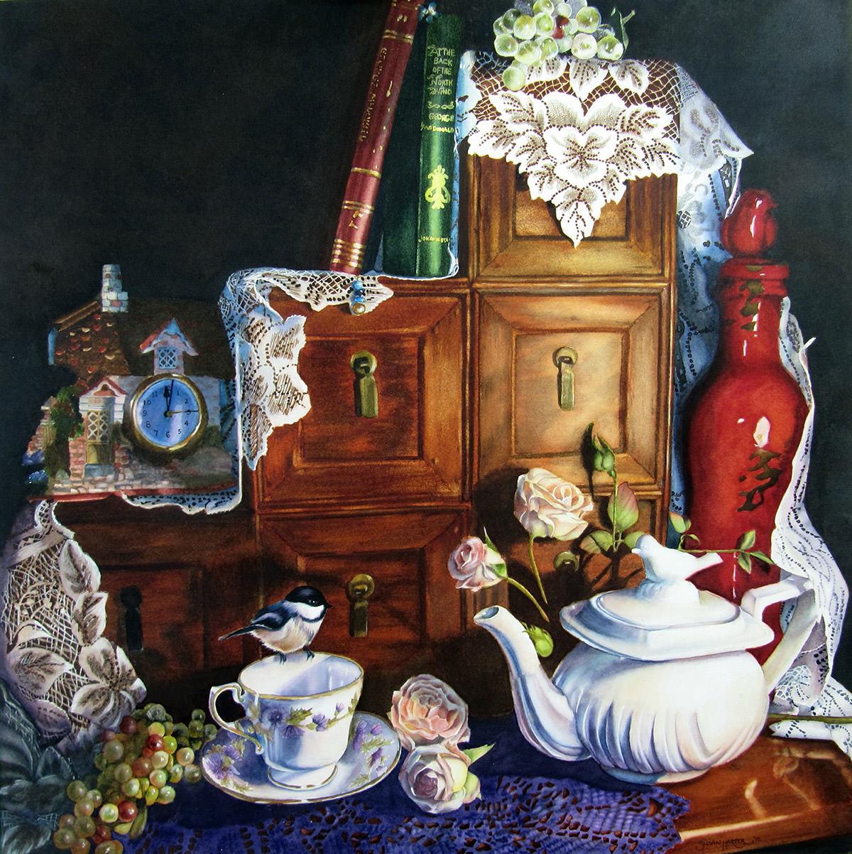 #WorldWatercolorGroup - Watercolor by Susan Walsh Harper - Still Life - #doodlewash