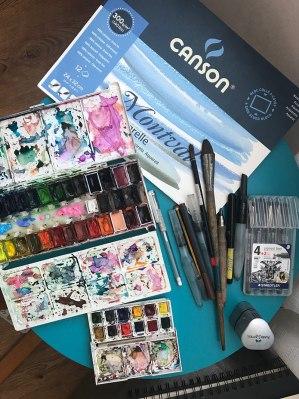 #WorldWatercolorGroup - Art Supplies of Naila Hazell - #doodlewash
