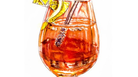 Day 11 - Lost In Reflection - Aperol Spritz - #doodlewash