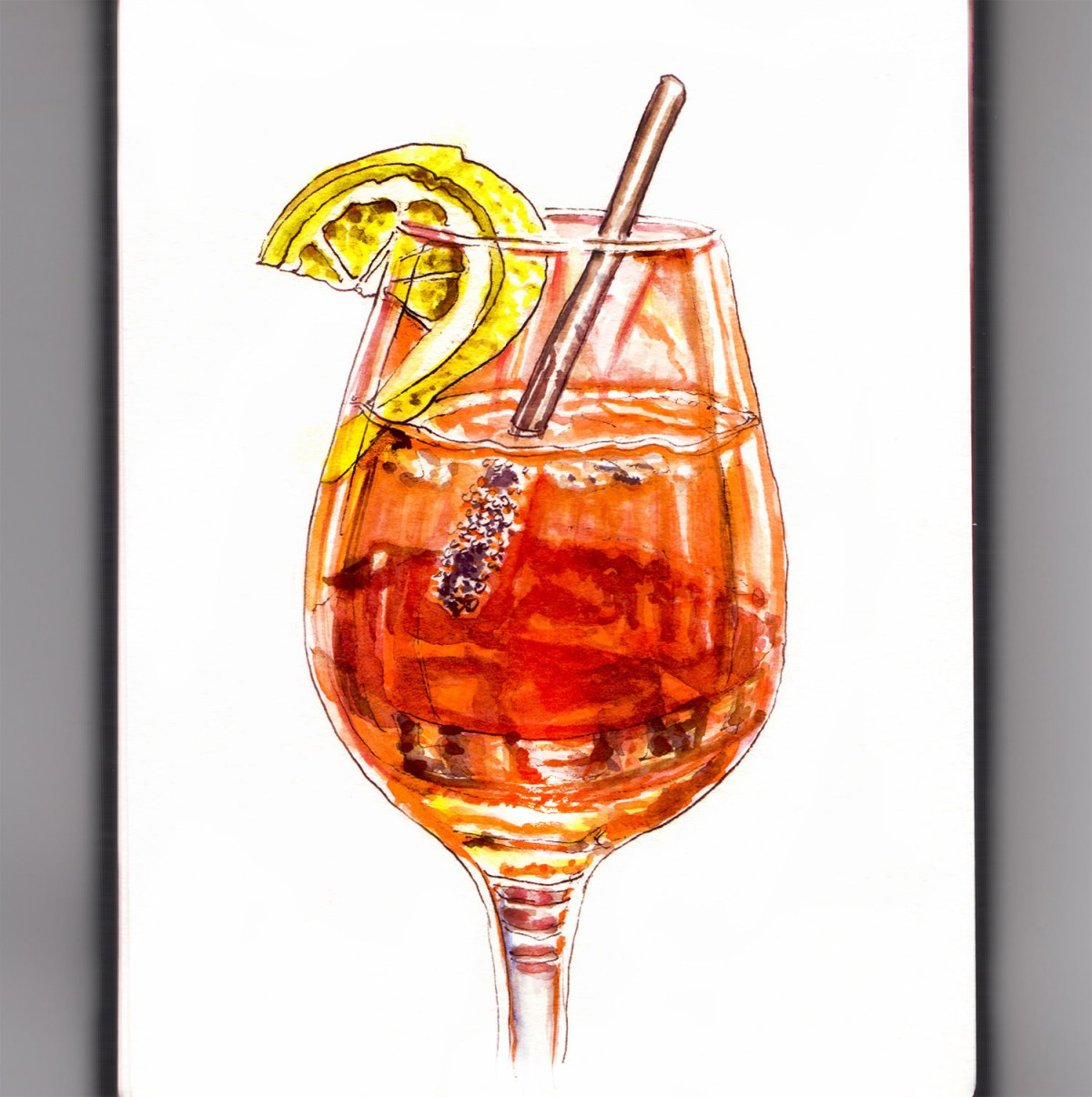 Day 11 - Lost In Reflection - Aperol Spritz - #doodlewash