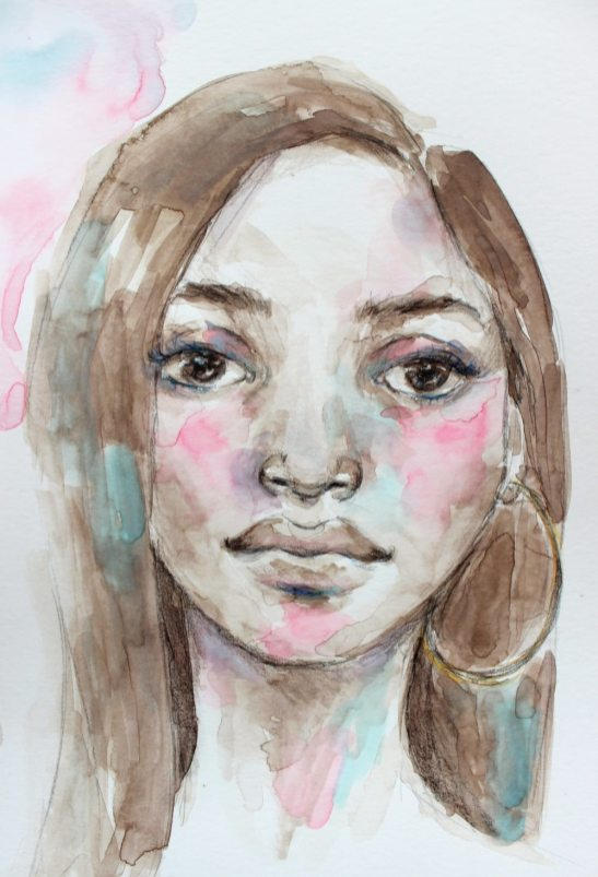 #WorldWatercolorGroup - Watercolor painting by Danielle Mack - Distress Pastels - #doodlewash