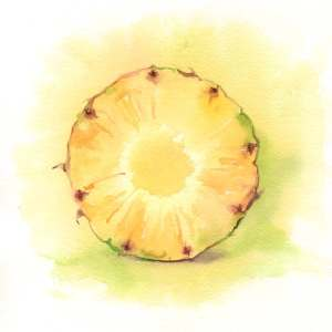 Day 4/100 pineapple. #100daysofrawfood A slice of pineapple is the sunshine of my breakfast. . Pinea