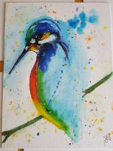 Inspired by painting done by Niraj Pathak from World Watercolor Group on Facebook. I painted it for