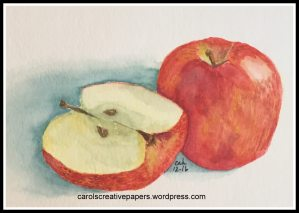 Apples – from a tutorial taught by Sandy Allnock Apple and Slice