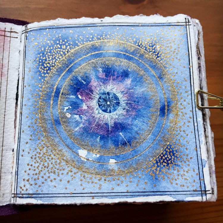 Blue Star- Watercolor Mandala BlueStar
