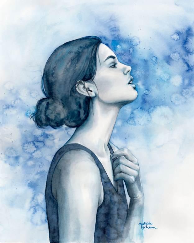#WorldWatercolorGroup - Watercolor by Natalie Mecham - Breathe - #doodlewash