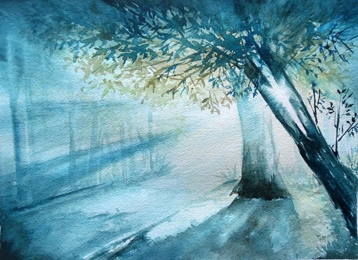 #WorldWatercolorGroup - Watercolor by Nimesha Udani - Hope - #doodlewash