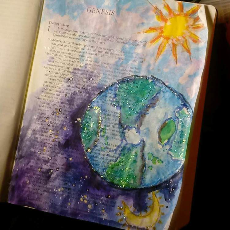 Watercolor, bible journaling.. IMG_20170617_194417_361