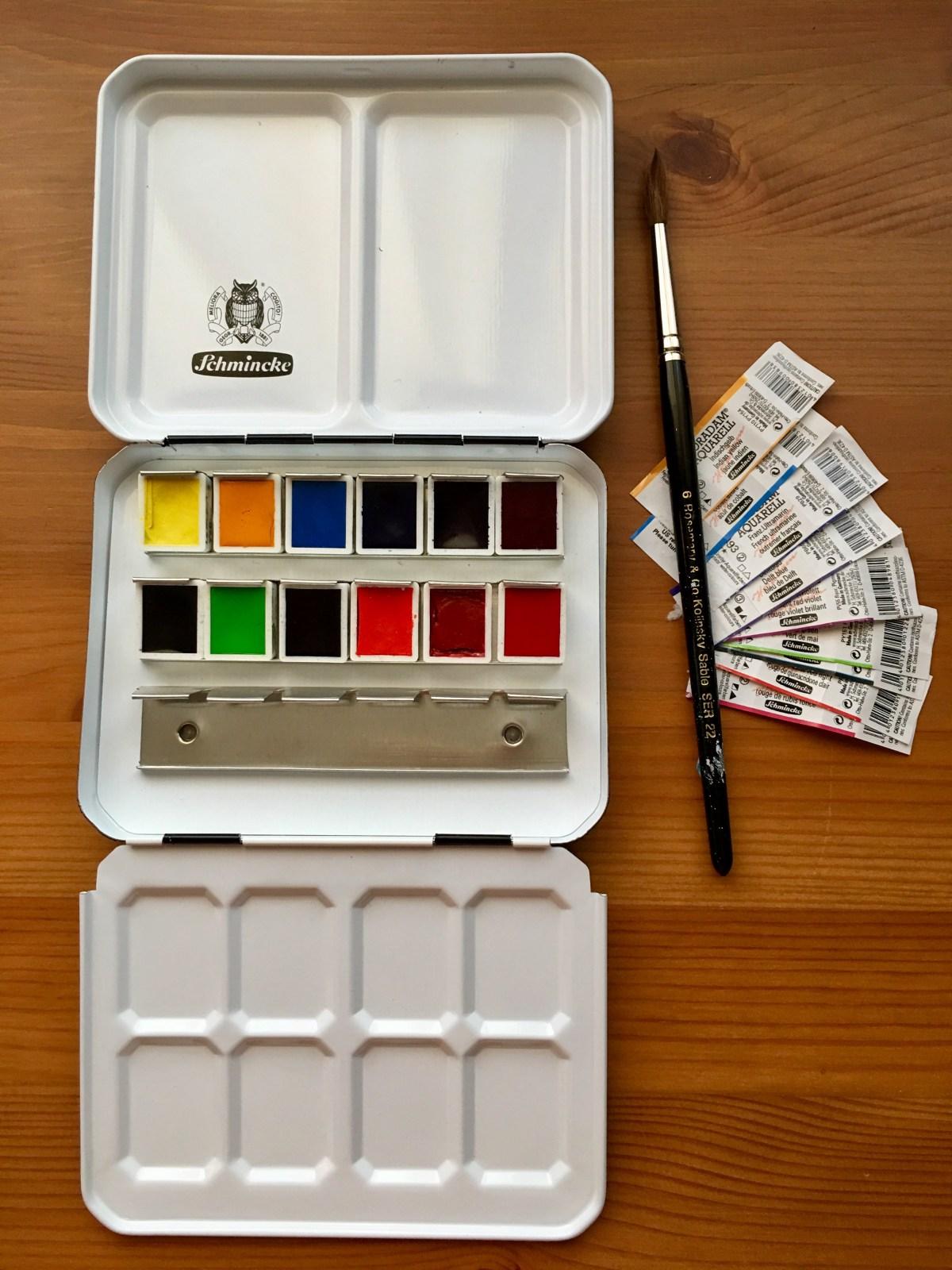 Schmincke Marilyn A. Garber 2017 Custom Set from Wet Paint & Schmincke 125 anniversary New Colors swatch