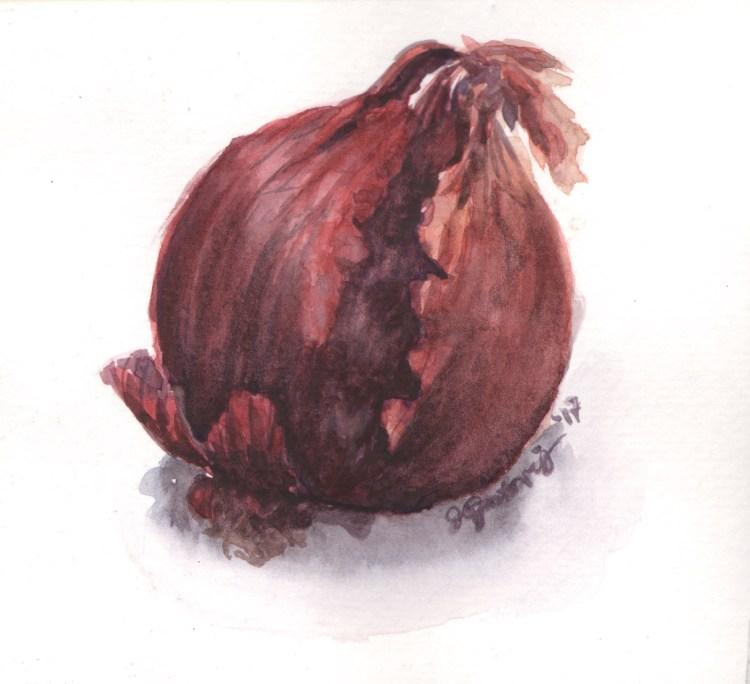 Red Onion StillLife_RedOnion_WC