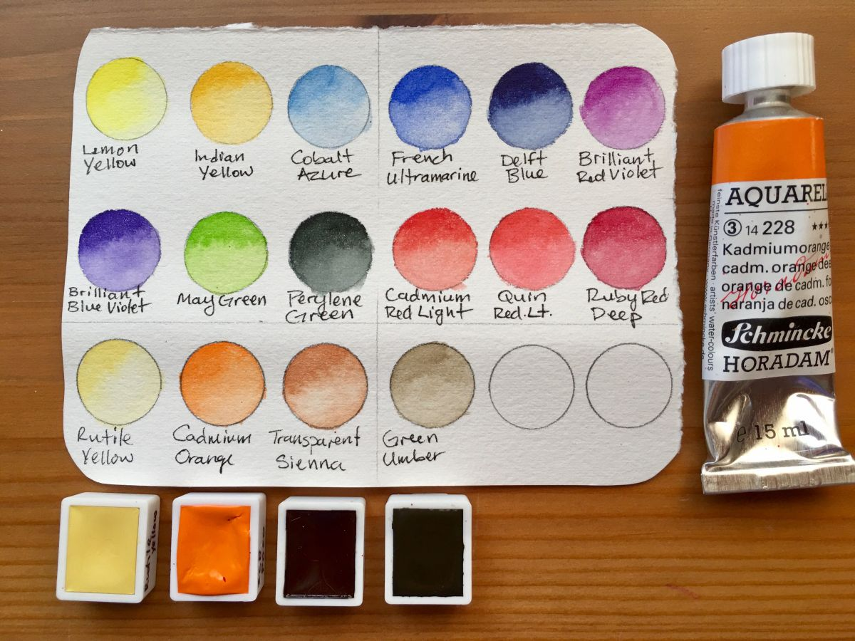 Schmincke Marilyn A. Garber 2017 Custom Set from Wet Paint & Schmincke 125 anniversary New Colors swatch