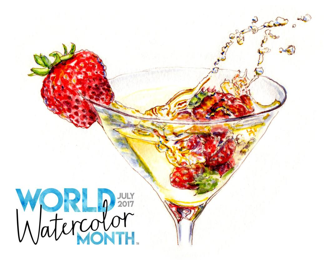 World Watercolor Month Returns in July 2017 #WorldWatercolorGroup #WorldWatercolorMonth