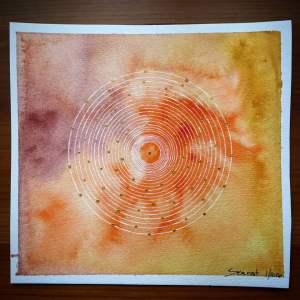 Bindu- Watercolor Mandala bindu