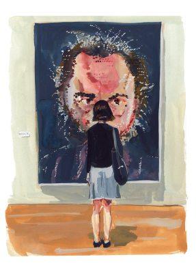 #WorldWatercolorGroup - Art by Jenny Kroik - Chuck Close And woman - #doodlewash