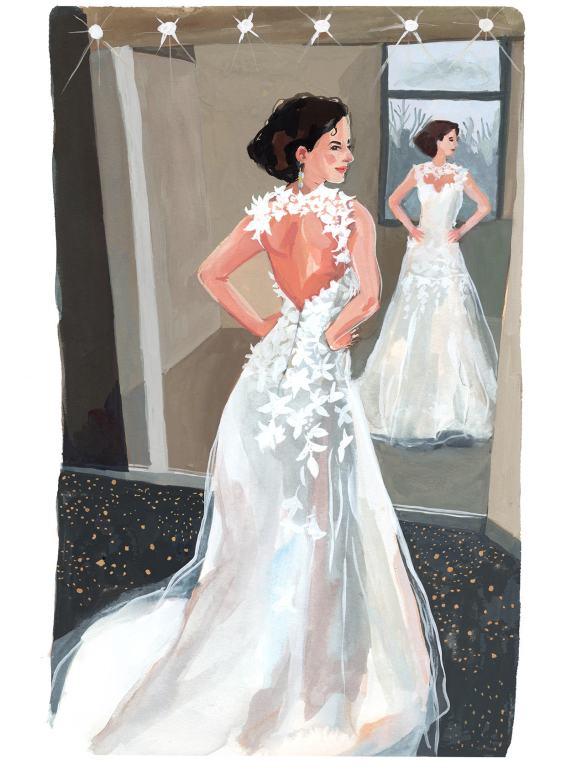 #WorldWatercolorGroup - Art by Jenny Kroik - Jen In Wedding Dress - #doodlewash
