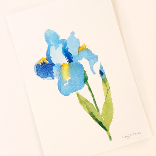 To celebrate World Watercolor Month, I\'m painting and giving away an original watercolor flow