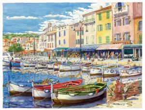 Cassis. Very beautiful place in the south of France. I drew this drawing for a very long time 1 ум