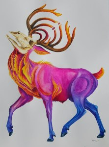 """An homage to the musical artist Bassnectar (His symbol is in the antlers). """"Paracosm"""" wa"""