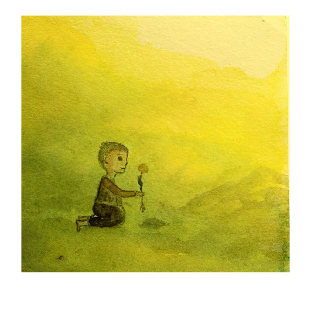 """Day 22 – I create small picture inspired by wonderful novel """"The man who planted trees&#"""