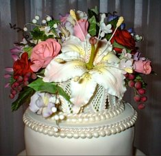 Basket of Flowers Cake Jennifer McLean