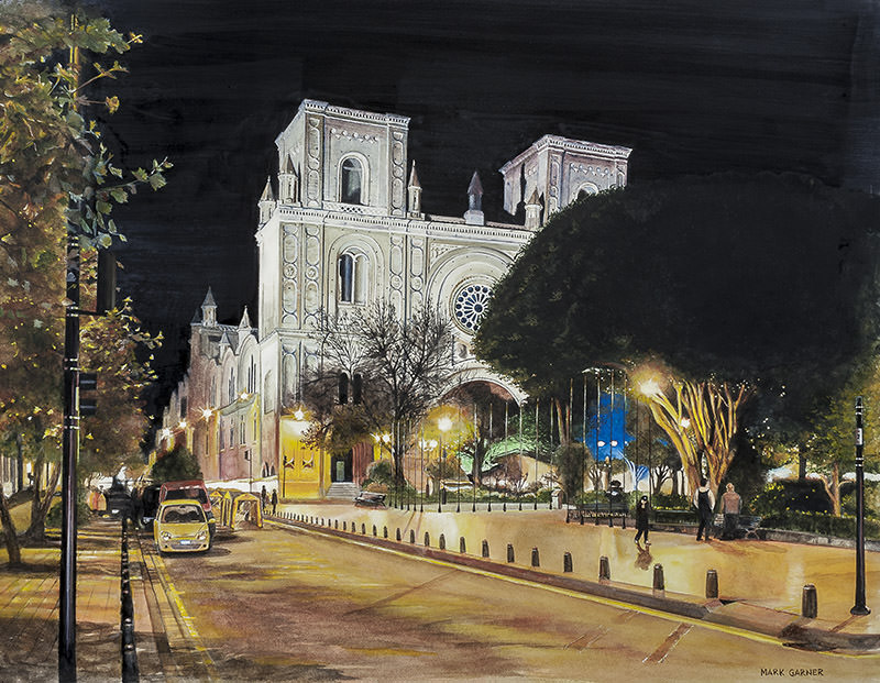 World Watercolor Month - Watercolor by Mark Garner - La Noche, Cuenca - Doodlewash