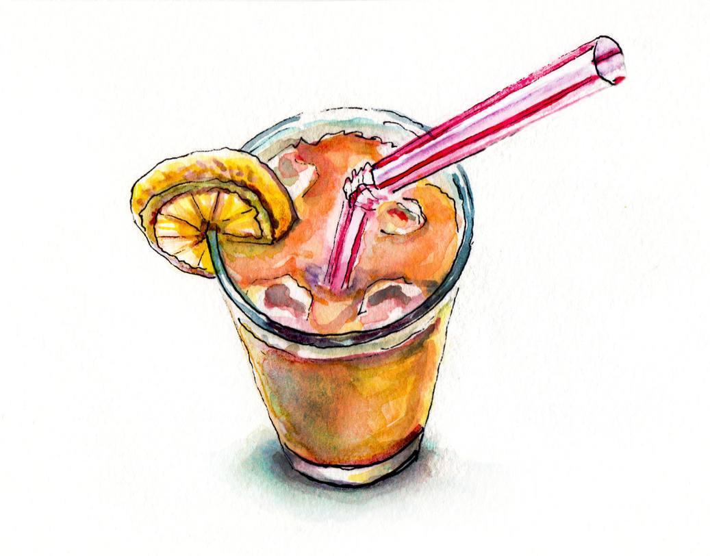 Day 25 - World Watercolor Month - A Mysterious Concoction - Cherry Lemon Turquoise - Doodlewash