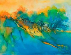 """""""Hill Country Morning Breaks"""" is an original watercolor, 15″ X 11″ on 300-po"""