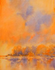 """""""Hill country Skies, No. 2″ is an original watercolor, 11″ X 15"""" on 300-poun"""