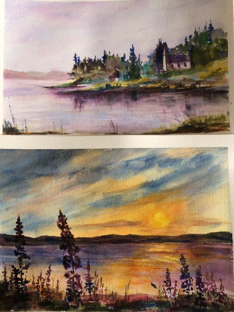 Workshop paintings done in a great workshop by local Cape Breton artist, Chris Gorey. IMG_0870