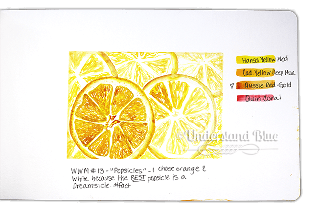 WWM #13 – Prompt = popsicles. i just used the colors of my fave – the Dreamsicle for an