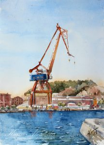 "This has been on my ""want to paint"" list for far too long – Gothenburg landmarks ("