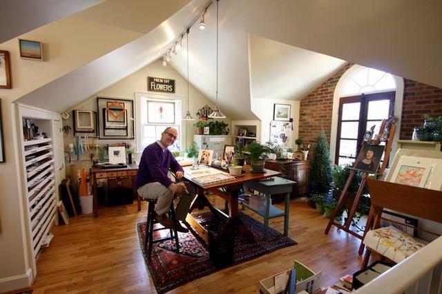 World Watercolor Month - Artist John Keeling In Studio - #WorldWatercolorGroup #doodlewash