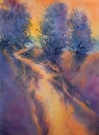 """""""Little Joshua Creek, No. 3″, is an original watercolor 22″ X 15"""" on 300-pou"""