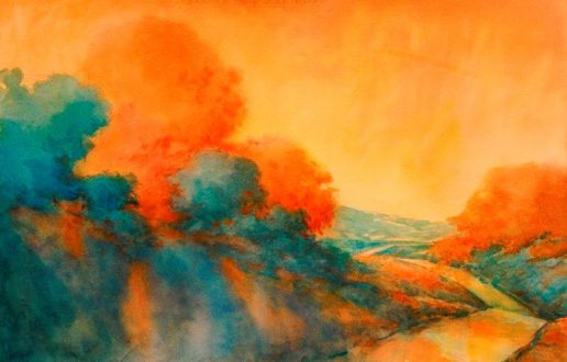 """""""Road to Bandera"""", is an original watercolor 22″ X 15″ on 300-pound Kilimanj"""