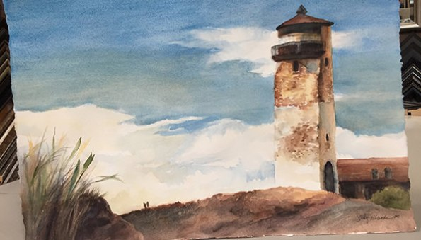 World Watercolor Month - Watercolor by Sandy Allnock - Lighthouse - Doodlewash
